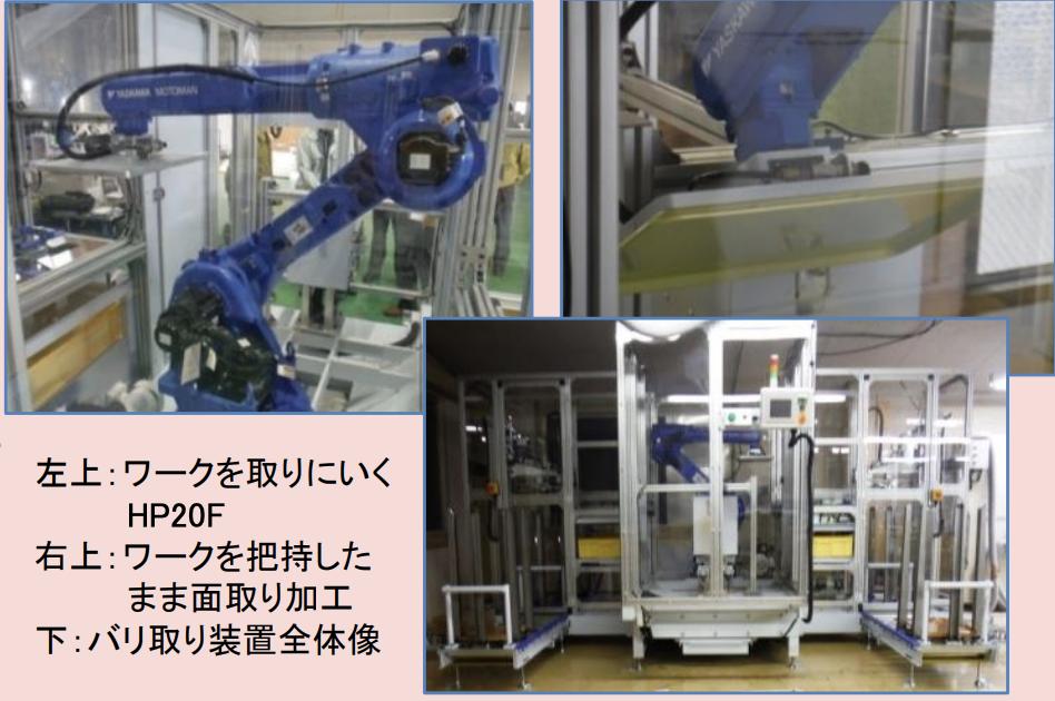 商品の仕上げ加工を自動化